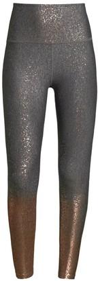 Beyond Yoga Alloy Ombre Metallic High-Rise Leggings