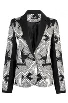 Select Fashion Printed Panel Blazer - Womens - Select - size 8