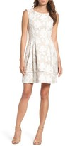 Vince Camuto Petite Women's Lace Fit & Flare Dress