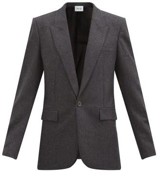 Pallas Paris Harlow Pressed-wool Single-breasted Jacket - Dark Grey