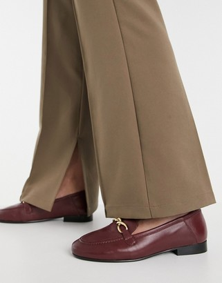 Topshop loafers in burgundy