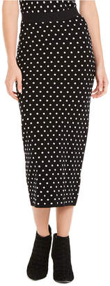 Escada Sport Polka Dot Knit Maxi Skirt