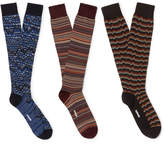 Missoni Three-Pack Cotton-Blend Knee-High Socks