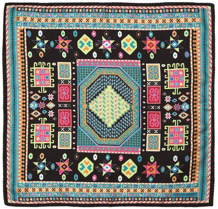 Etro Ethnic Printed Silk Pocket Square