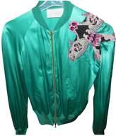 Iceberg Green Silk Jacket for Women