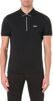 HUGO BOSS Logo-detail cotton-blend polo shirt