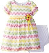 Rare Editions Baby Baby Girls' Chevron Crochet Dress
