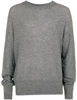 Topman Topman Design Grey Cashmere Longline Jumper
