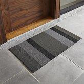 "Crate & Barrel Chilewich ® Silver-Black Striped 20""x36"" Doormat"
