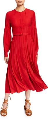 Gabriela Hearst Gertrude Wool/Cashmere Button-Front Dress