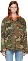 R 13 Green Camo Abu Hooded Jacket