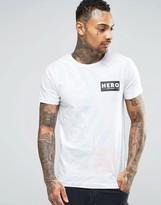 Hero's Heroine Heros Heroine T-Shirt With Hibiscus Print