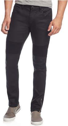 INC International Concepts Inc Men Skinny-Fit Moto Jeans with Zipper Details