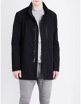 John Varvatos Zip-detailed Cotton-blend Shell Jacket