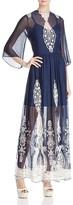 Alice + Olivia Aquinnah Bell-Sleeve Maxi Dress