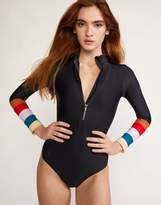 Cynthia Rowley Colorblock Stripe Surf Suit