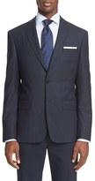 John Varvatos Trim Fit Check Wool & Cashmere Sport Coat