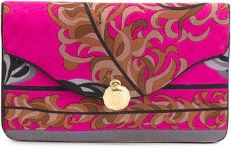 Emilio Pucci Pre-Owned Foliage Print Clutch