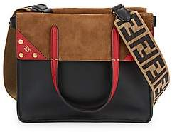 Fendi Women's Flip Leather & Suede Crossbody Bag