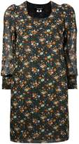 Junya Watanabe Comme Des Garçons cropped sleeve floral shift dress