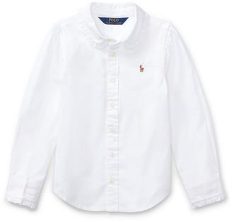Ralph Lauren Ruffled Cotton Oxford Shirt