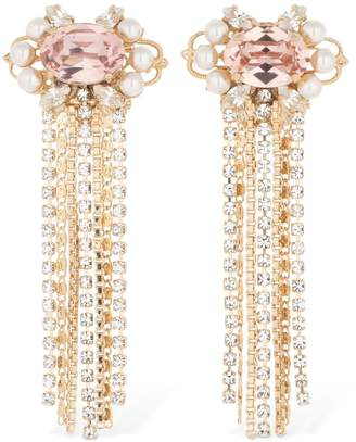 Anton Heunis Omega Clasp Cascade Cluster Earrings