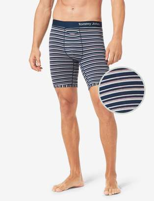 Tommy John Tommyjohn Cool Cotton Boxer Brief, Fall Stripe