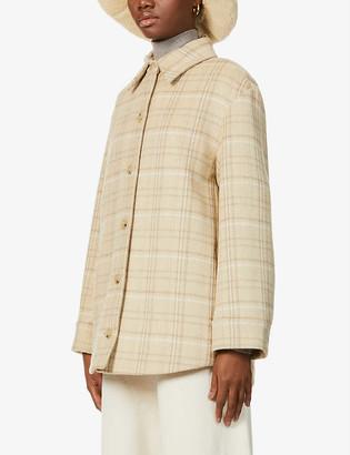 Vince Plaid wool-blend shirt