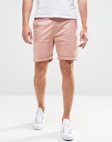 Asos Slim Chino Shorts In Pink