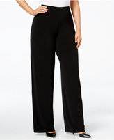 Alfani Plus Size Wide-Leg Soft Pants