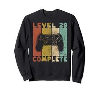 Mens 29th Birthday Shirt Men Gaming TShirt Level 29 Complete Sweatshirt