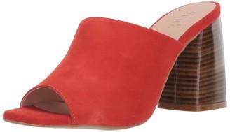 Find. Amazon Brand Assymetric Leather Mule Open Toe Heels
