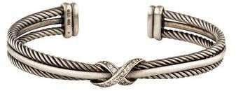 David Yurman Diamond Crossover X Bracelet