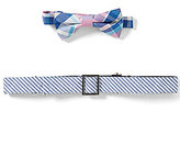 Class Club Boys Plaid Bow Tie & Striped Belt Set
