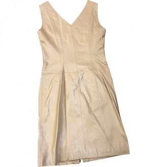 Loewe Beige Leather Dresses
