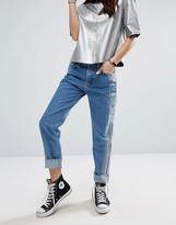 Pull&Bear Metallic Wash Straight Leg Jean