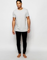 Asos Loungewear Skinny Joggers In Black Waffle Fabric