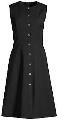 Lafayette 148 New York Women's Fahey Sleeveless Button-Front Dress