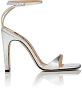 Sergio Rossi Women's Laminated Leather Ankle-Strap Sandals