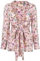 Floral Print Belted Blouse