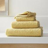 Crate & Barrel Ribbed Yellow Bath Towels
