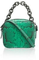 Amanda Wakeley Jackson Emerald Python Pochette Bag