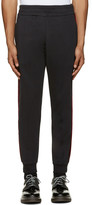 Alexander McQueen Black Velvet Trim Lounge Pants