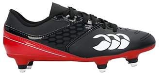 Canterbury of New Zealand Children's Phoenix Raze Club 6 Stud Rugby Boots, Black/Red