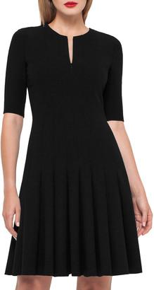 Akris Elbow-Sleeve Zip-Front Dress