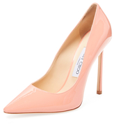 Jimmy Choo Romy 110 Patent Leather Pointed-Toe Pump