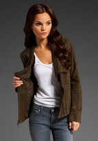 Side Zip Suede Jacket