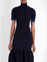 Victoria Beckham Turtleneck wool-blend top