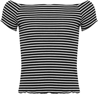 M&Co Teen striped bardot top