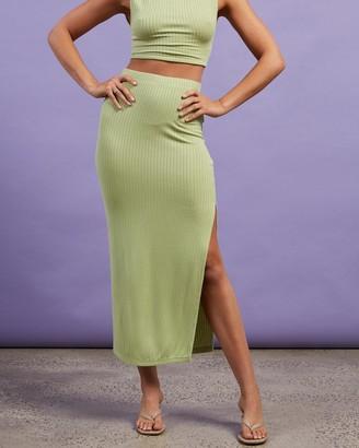 Dazie - Women's Green Midi Skirts - Take Me Away Midi Skirt - Size 8 at The Iconic